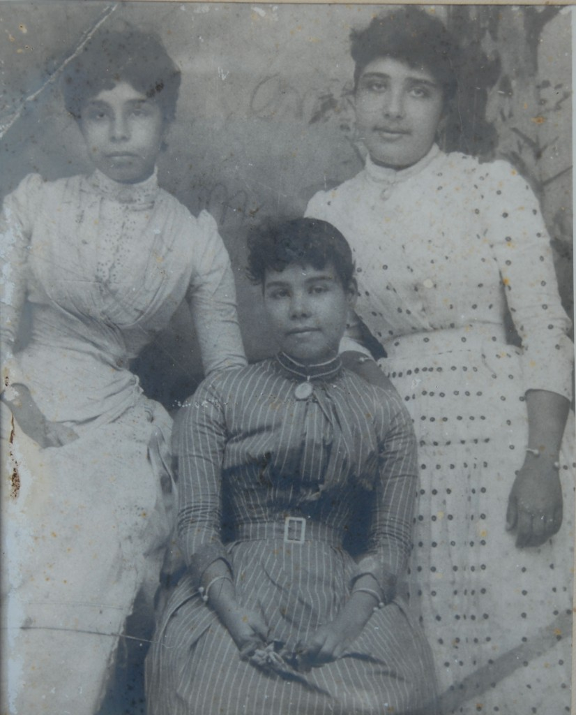 Three Kittitian sisters whose mother was a Cabral from Madeira