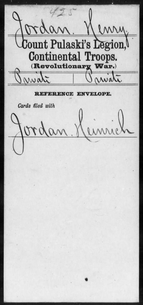 Henry Jordan Rev War records pg1